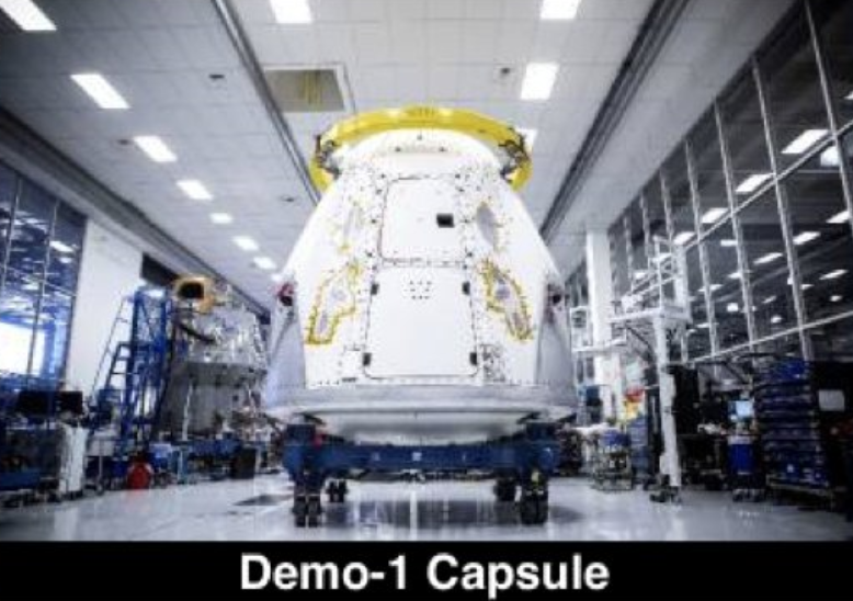 DM-1 capsule completed (SpaceX)