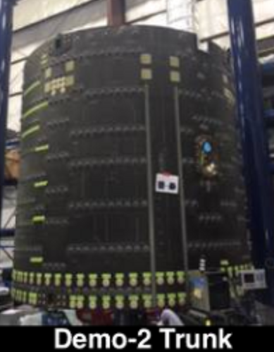 DM-2 Crew Dragon trunk production (SpaceX)