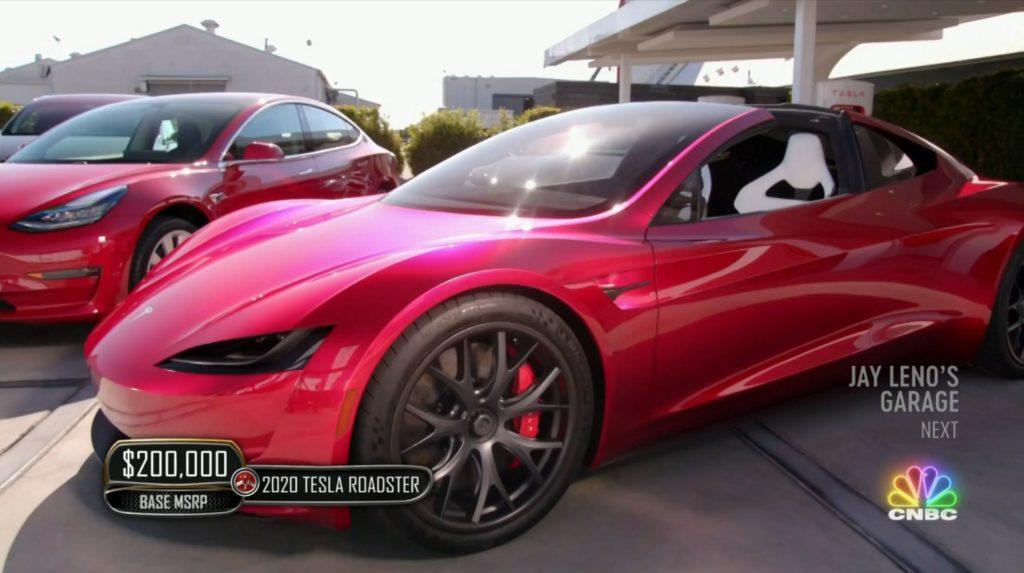 Tesla S Next Gen Roadster Unleashes Jay Leno S Inner Child In Jay