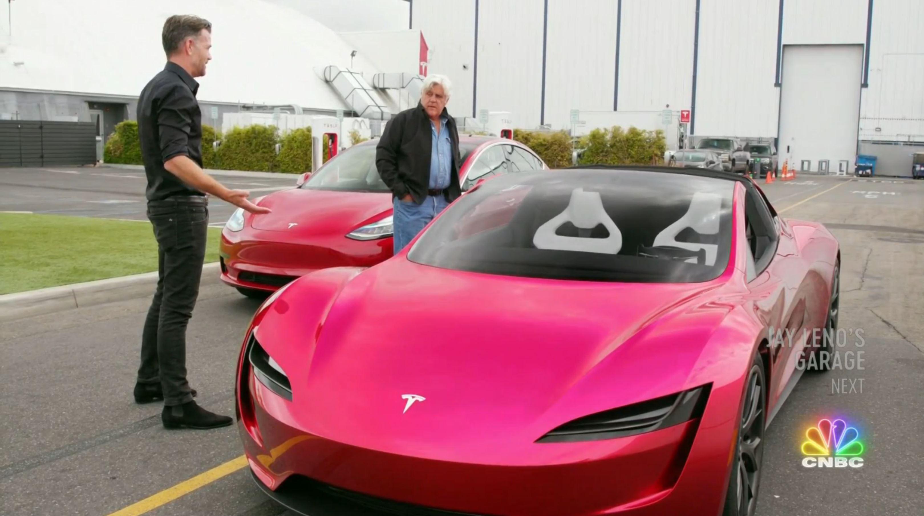Jay Leno Tesla Franz segment (NBC) 16