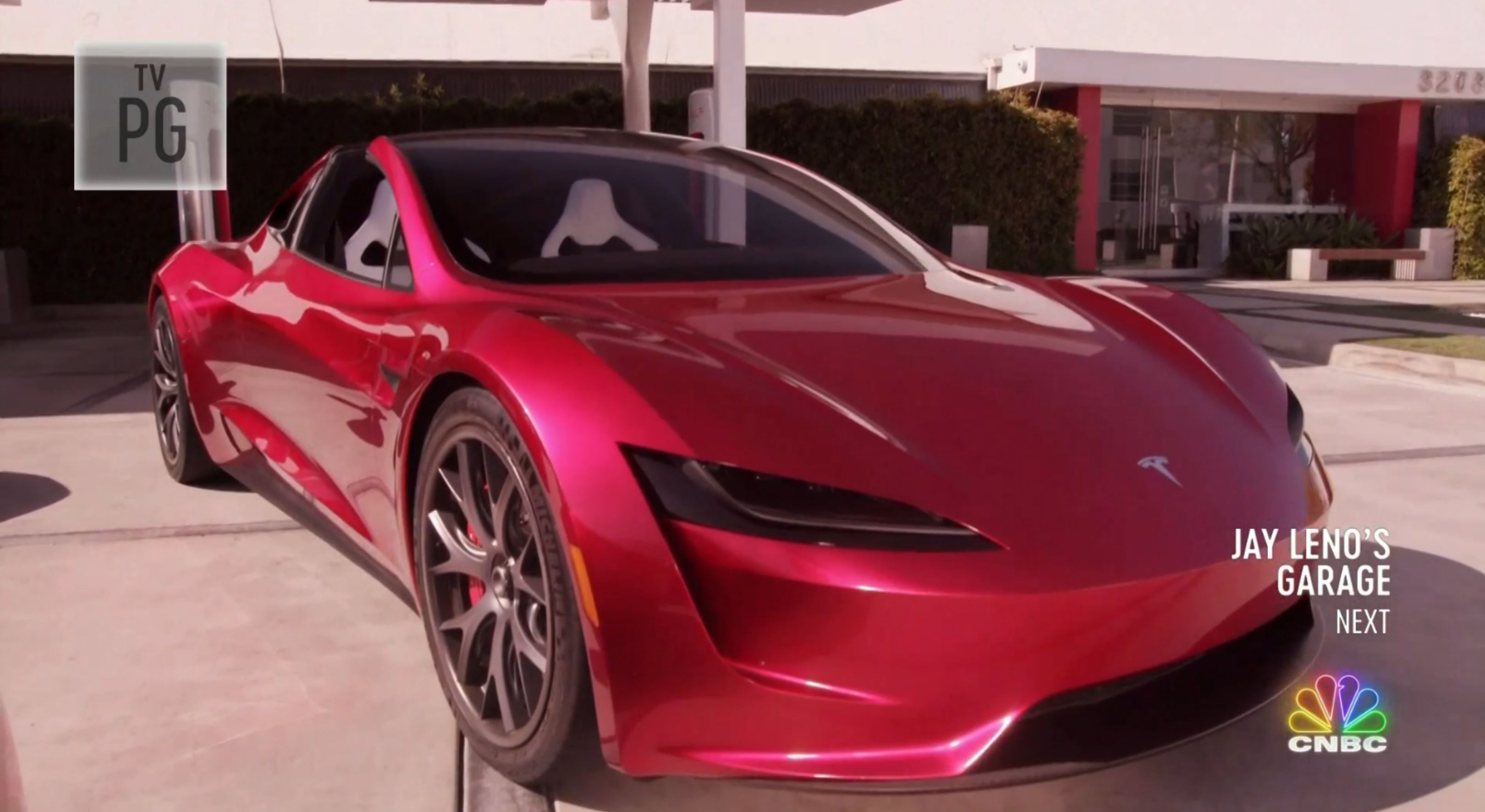 Jay Leno Tesla Franz segment (NBC) 8
