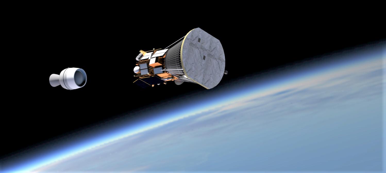 PSP Star 48 booster separation in orbit (Reese Wilson)