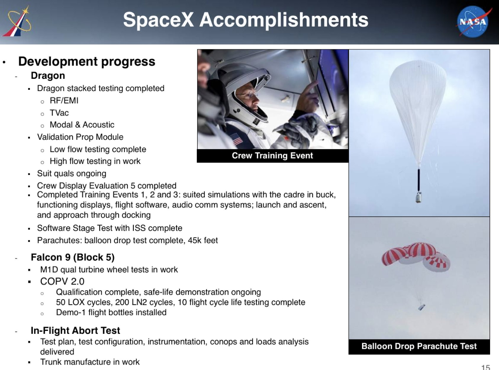 SpaceX Commercial Crew NAC update August 2018 1