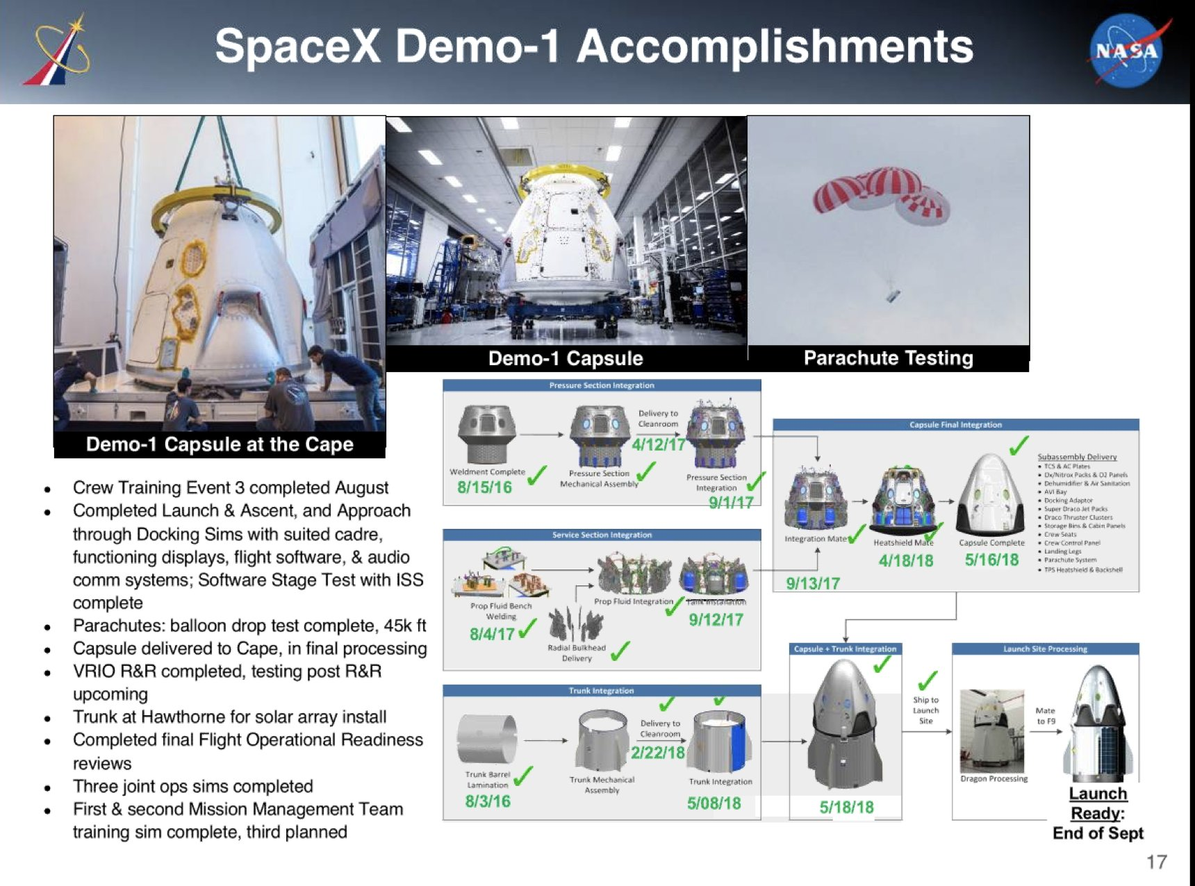 SpaceX Commercial Crew NAC update August 2018 3
