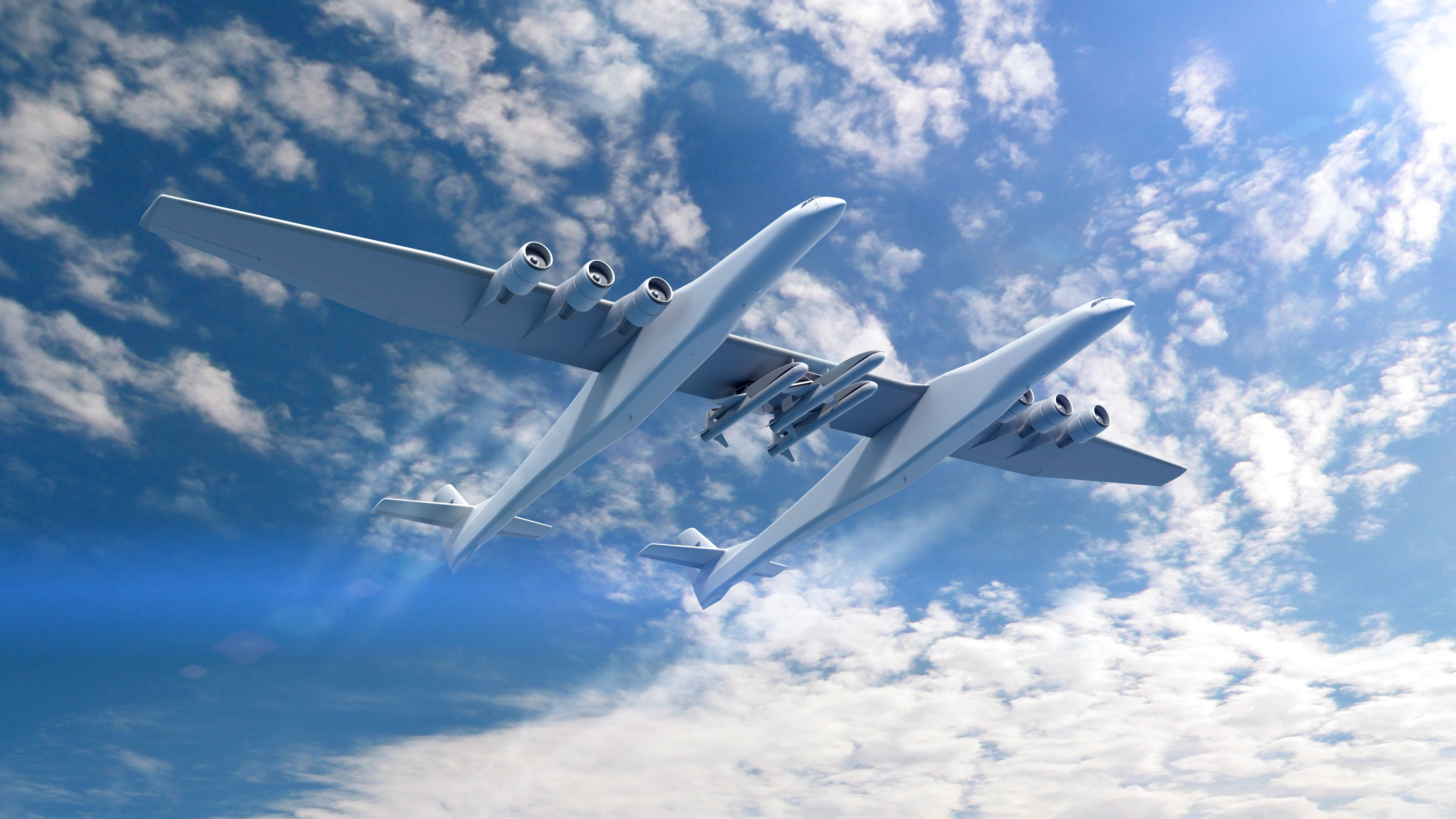 Stratolaunch and triple Orbital ATK Pegasus XL payload (Vulcan Space)