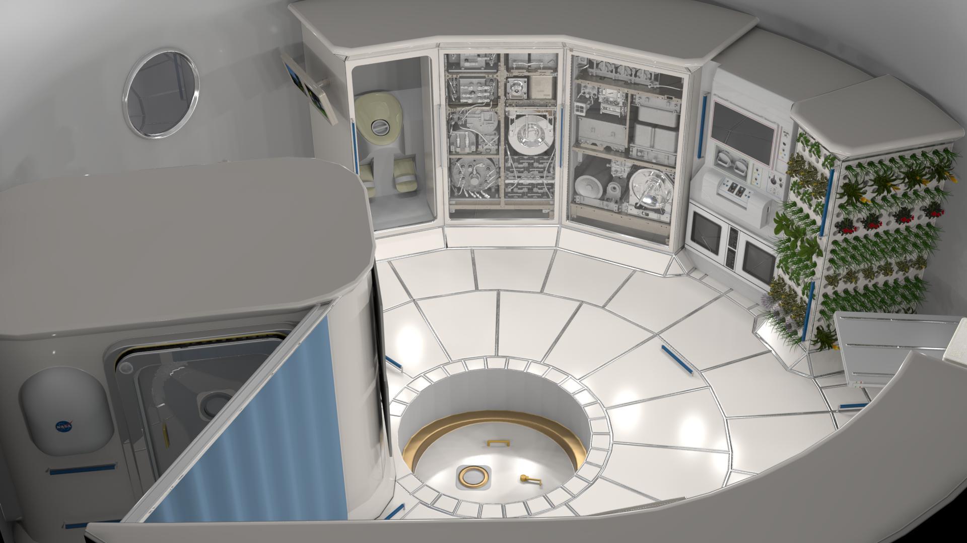 deep space habitat concept (NASA)