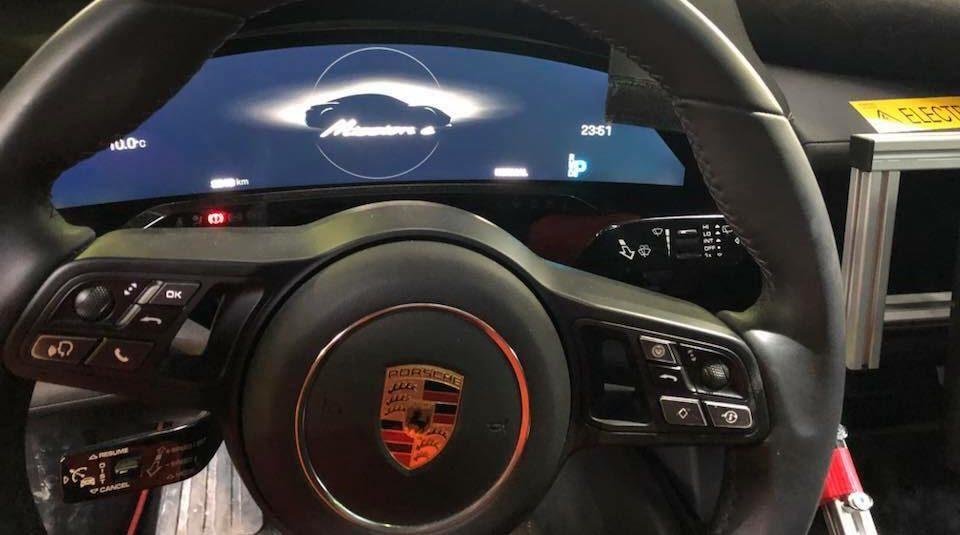 Porsche Taycan Interior Shows Prototype S Steering Wheel