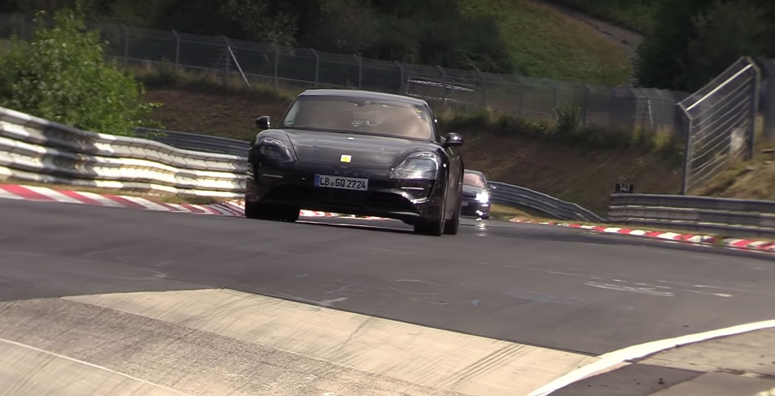 Porsche Taycan rips through Nurburgring as track-testing continues