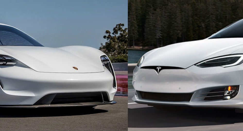 Porsche Taycan Vs Tesla Model S Powertrain Battery