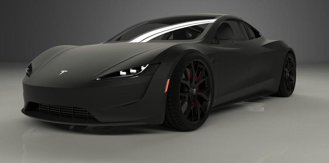 tesla-roadster-matte-black