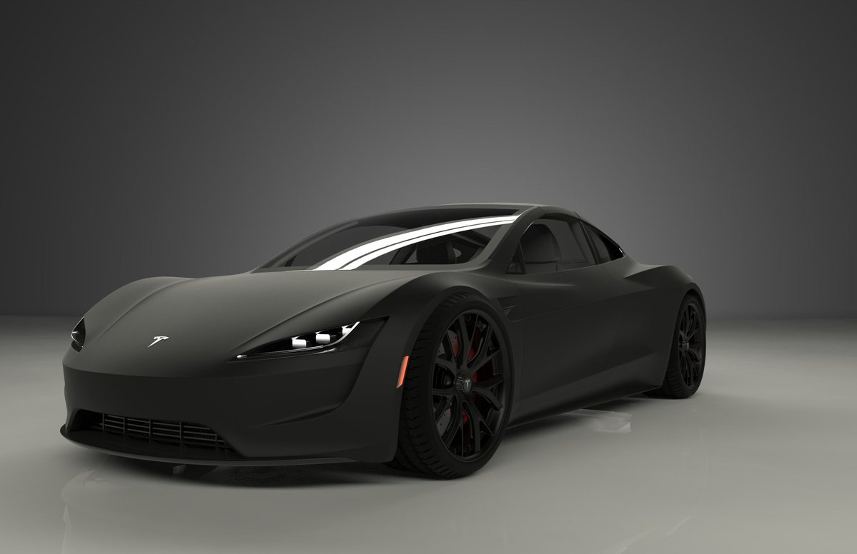 tesla-roadster-matte-black