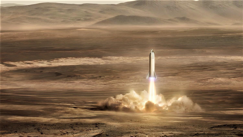 BFR 2018 Mars landing (SpaceX)
