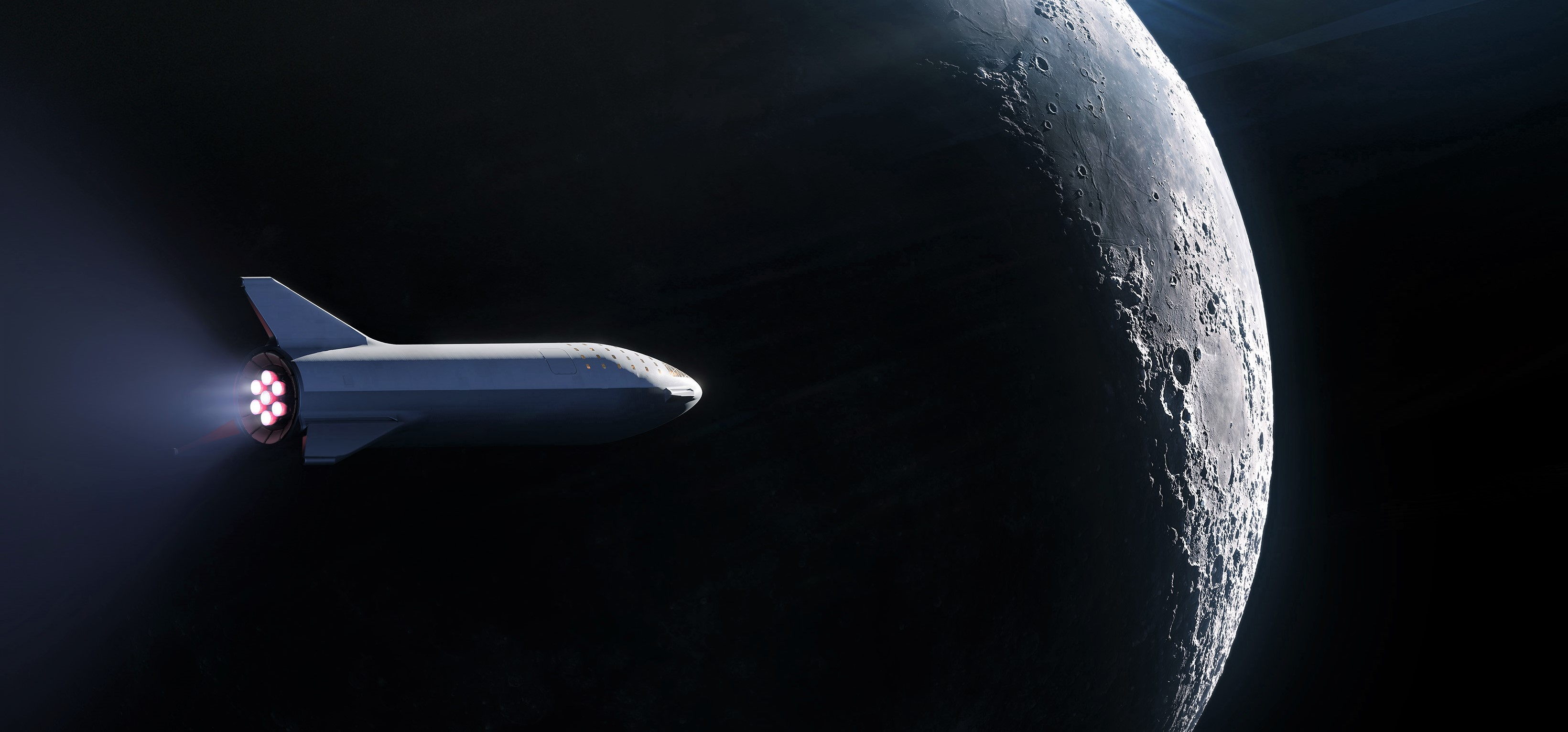 Tesla Model S Interior >> SpaceX has signed a private passenger for the first BFR launch around the Moon
