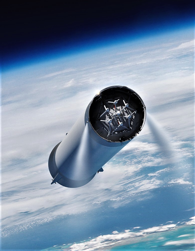BFR 2018 booster interstage (SpaceX) 1