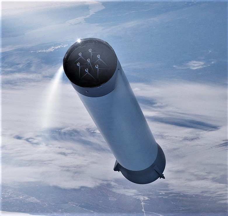 BFR 2018 booster + interstage (SpaceX) 2