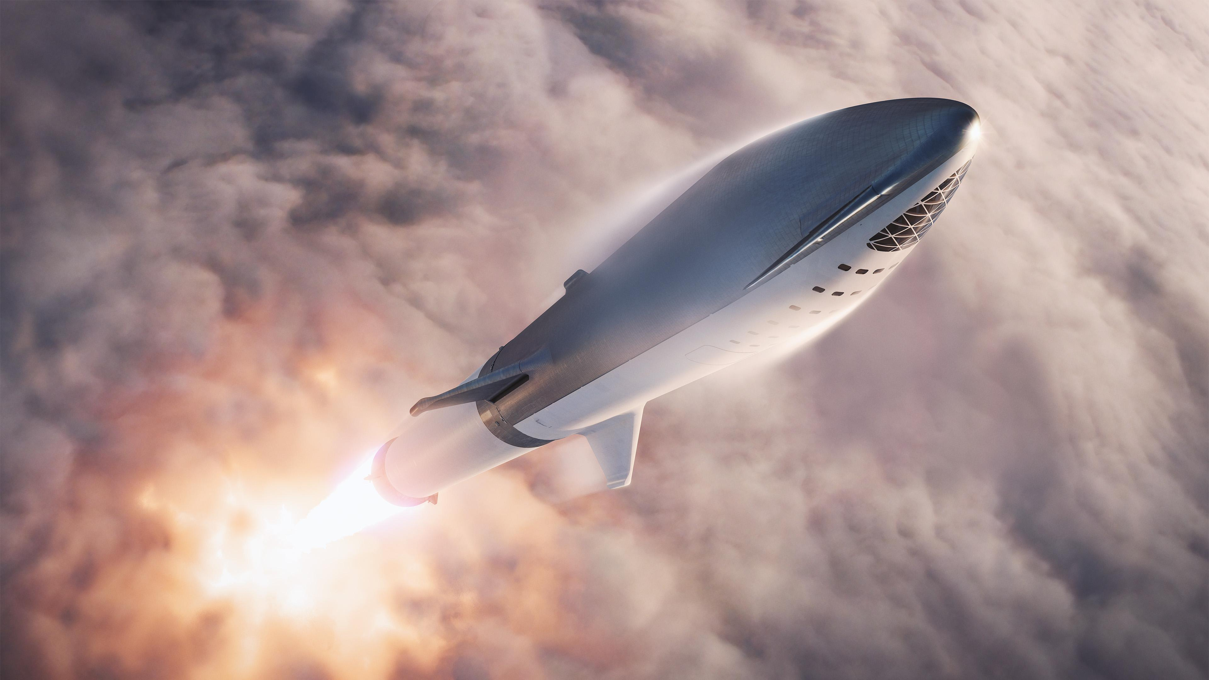 BFR 2018 launch (SpaceX) 1 n(c)