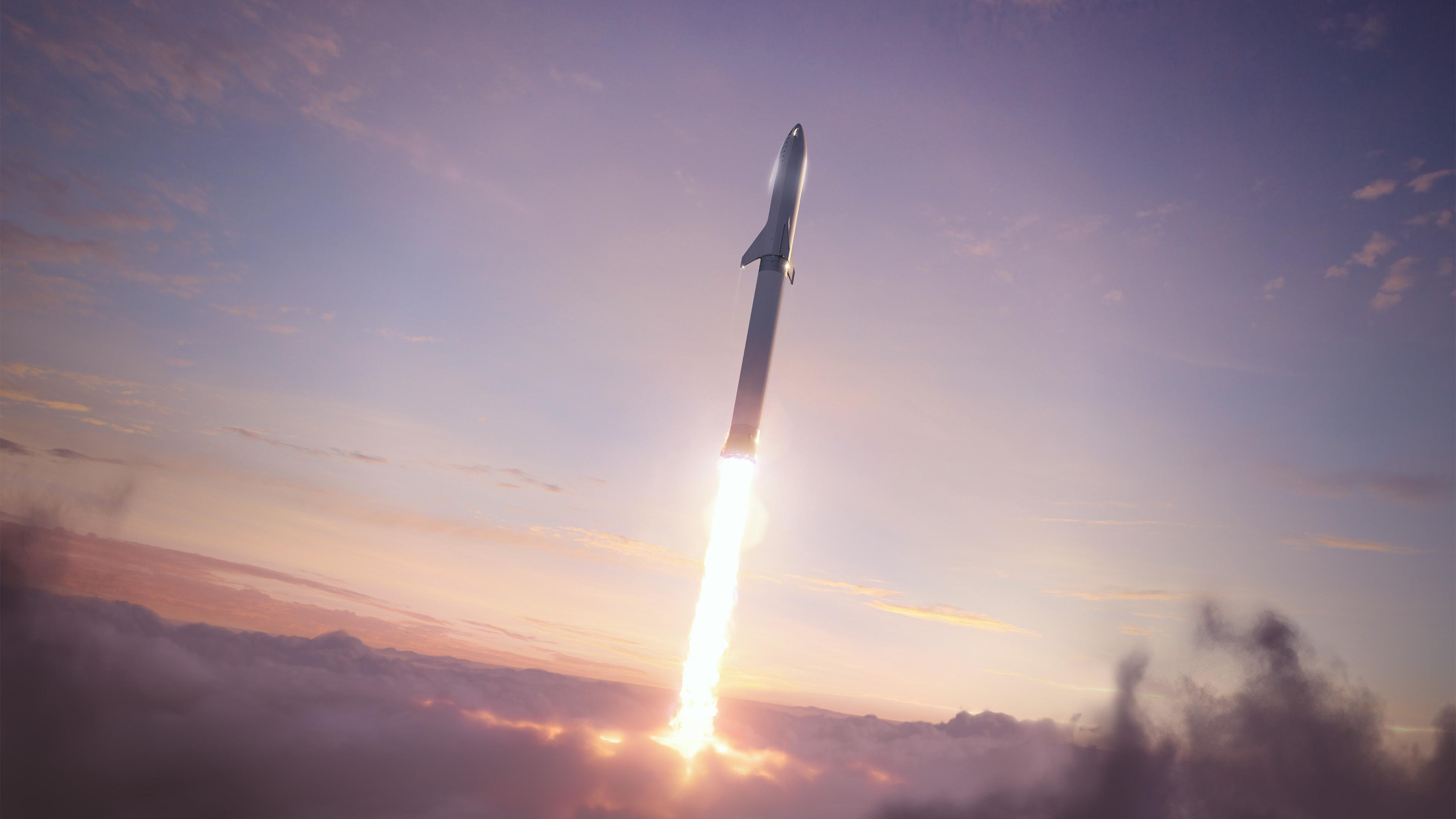 BFR 2018 launch (SpaceX) 2 n(c)