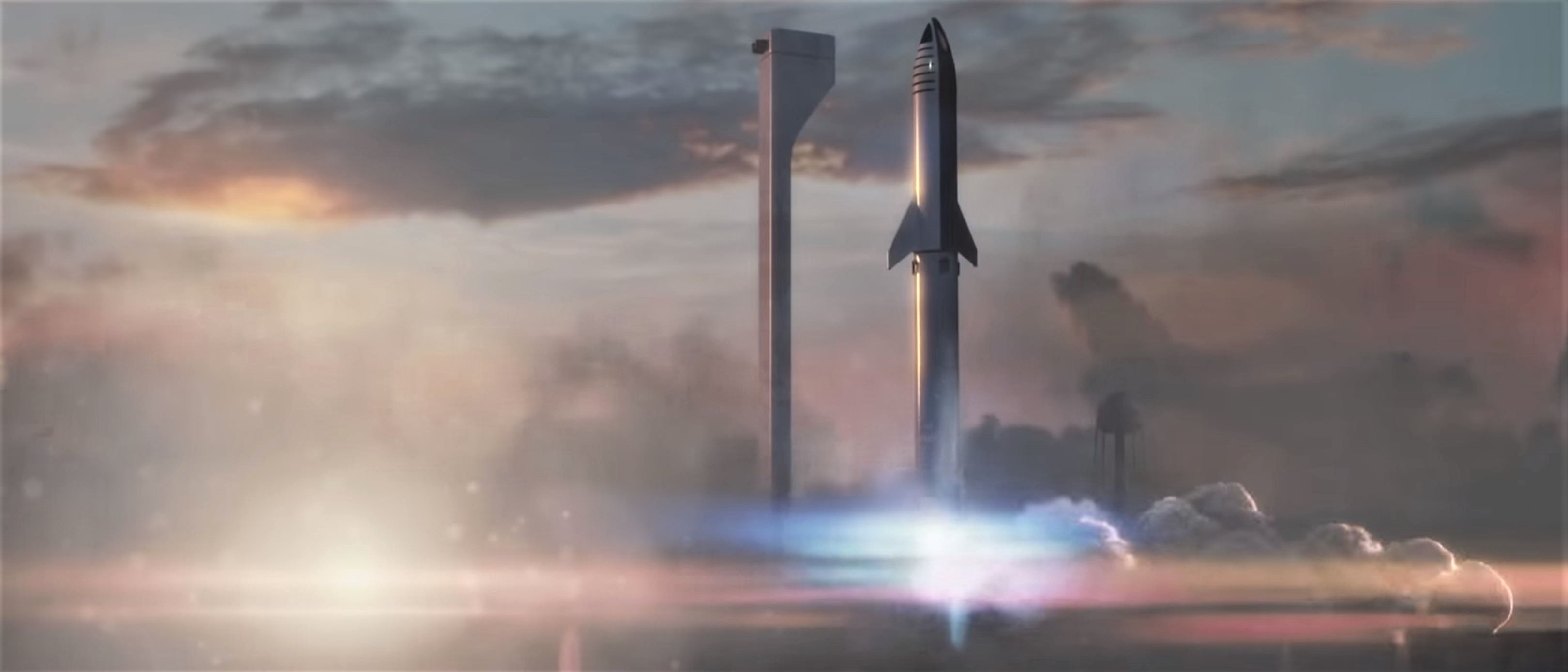 BFR 2018 launch render (SpaceX) 1