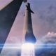SpaceX's BFR booster and spaceship lift off on the first private, crewed mission around the Moon. (SpaceX)