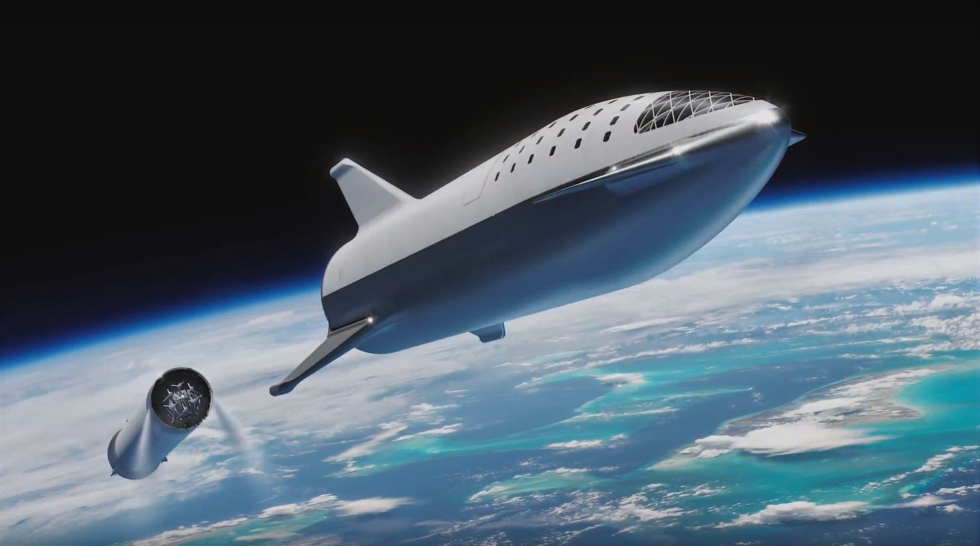 BFR 2018 launch render (SpaceX) 4