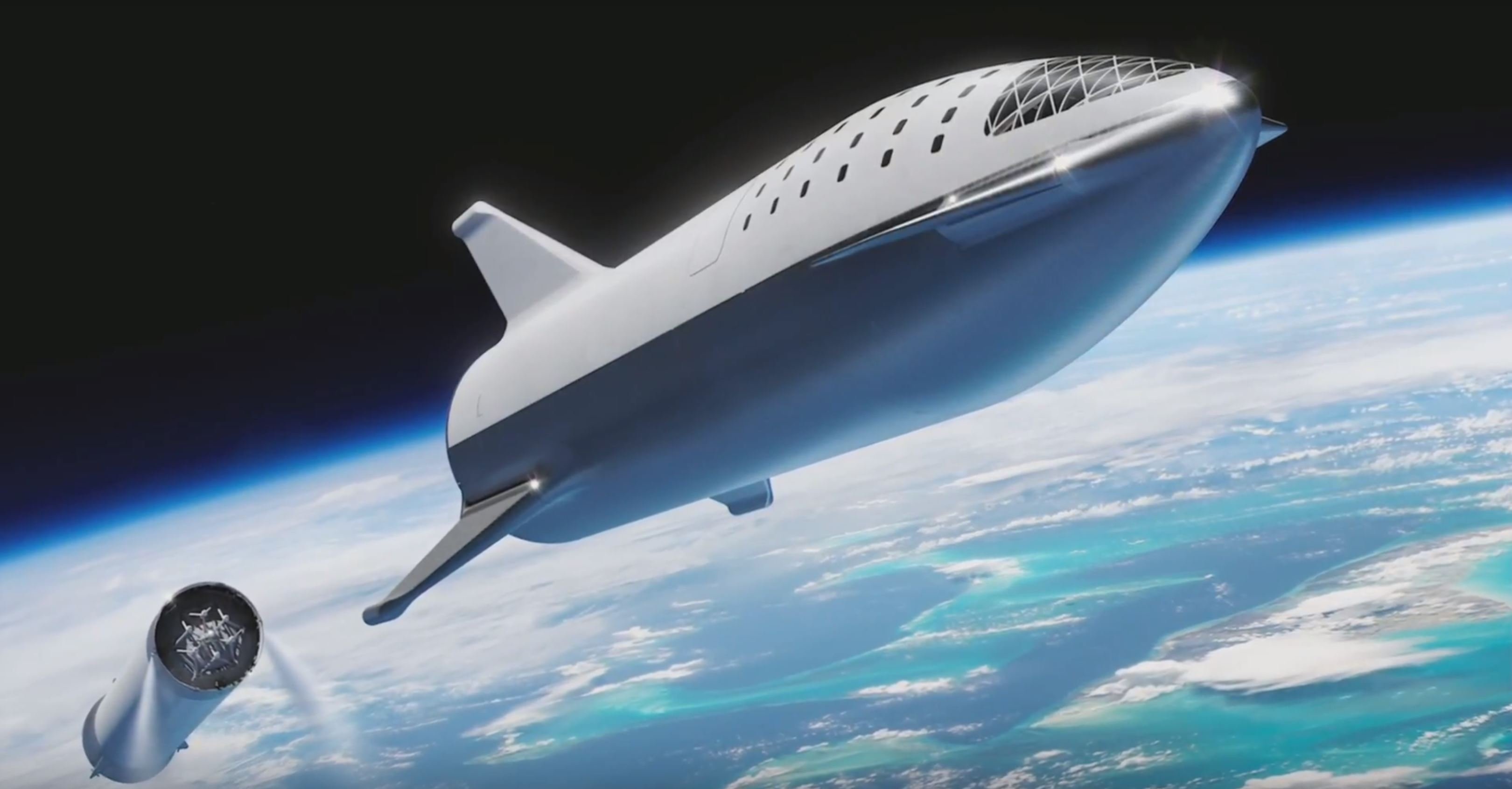 BFR 2018 launch render (SpaceX) 5