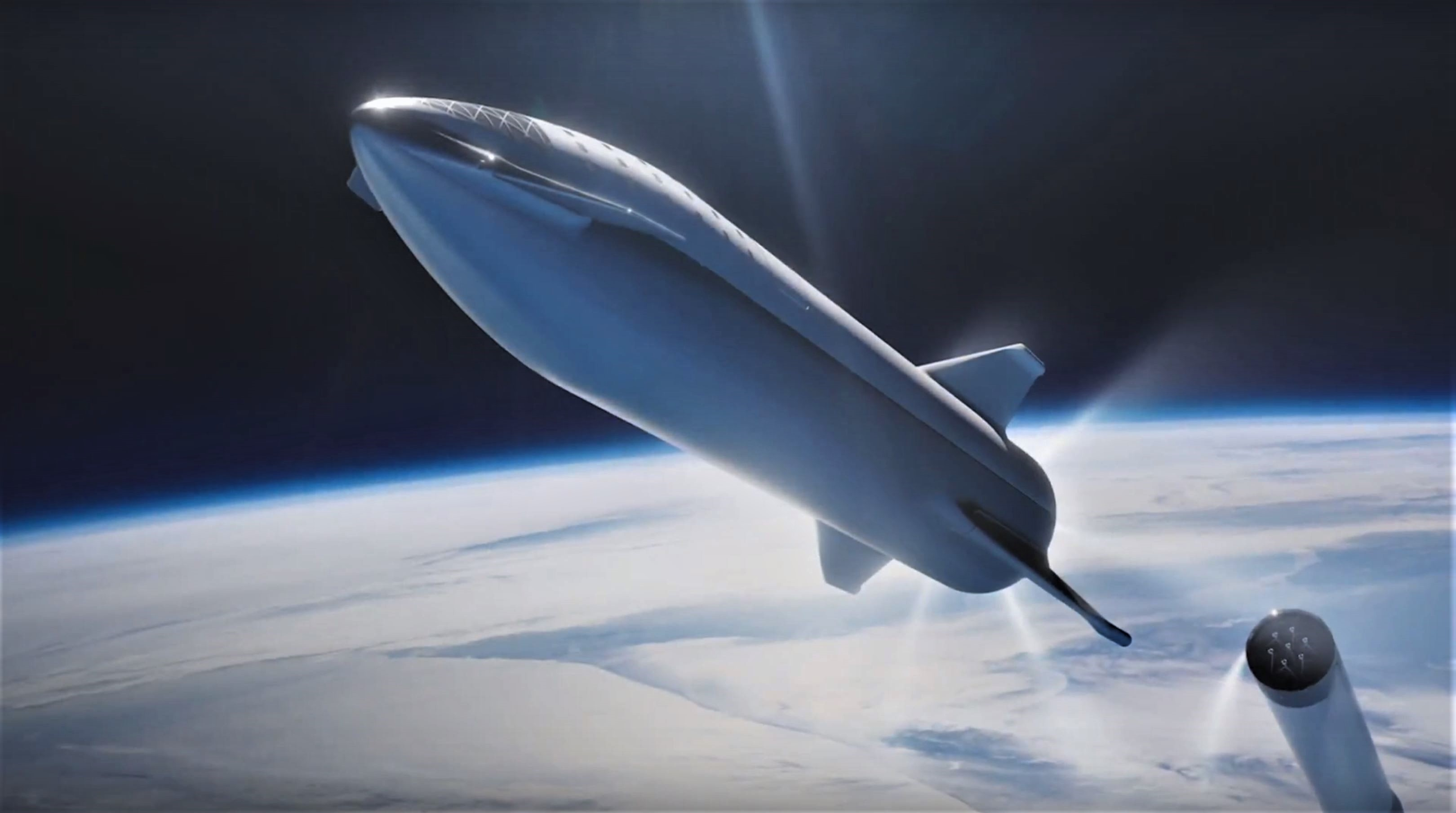 BFR 2018 launch render (SpaceX) 6