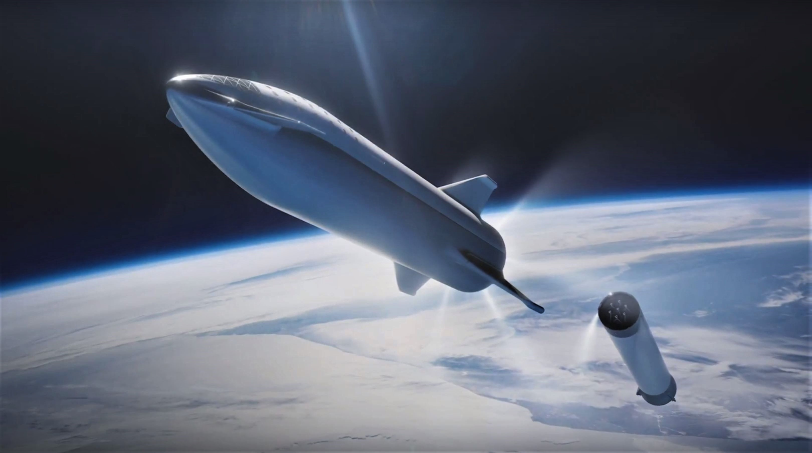 BFR 2018 launch render (SpaceX) 7