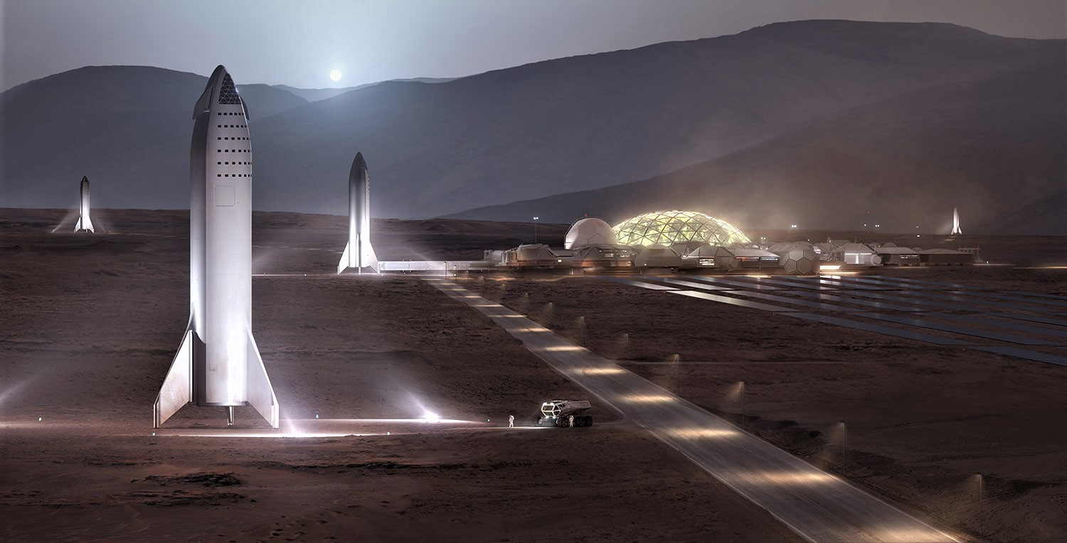 BFR 2018 on Mars (SpaceX) crop