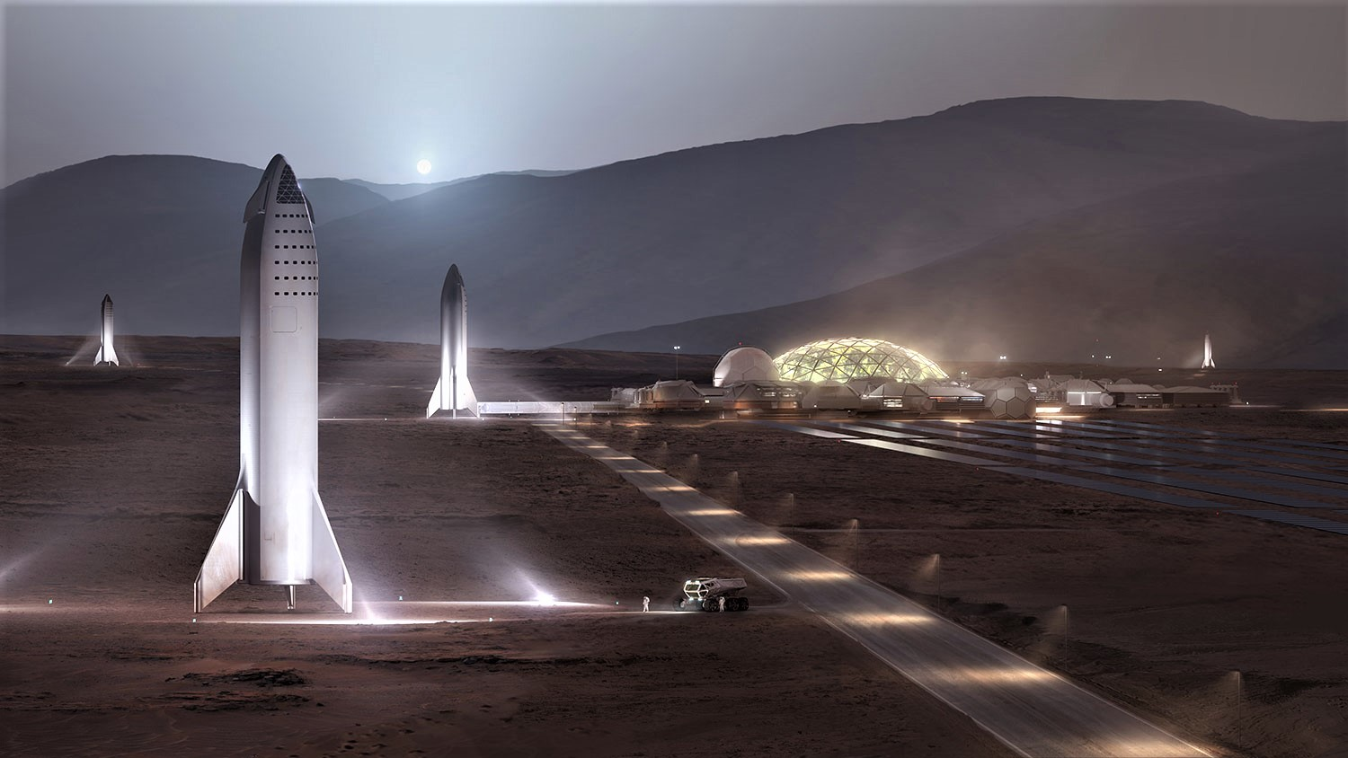 BFR 2018 on Mars (SpaceX)