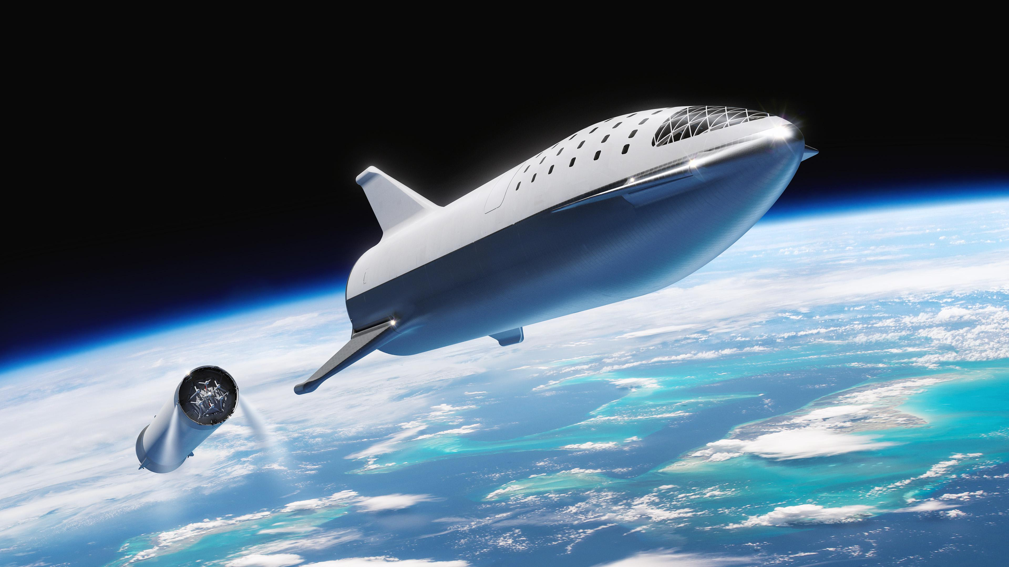 Spacex Wants To Land Its Bfr Spaceships Like A Skydiver On Earth