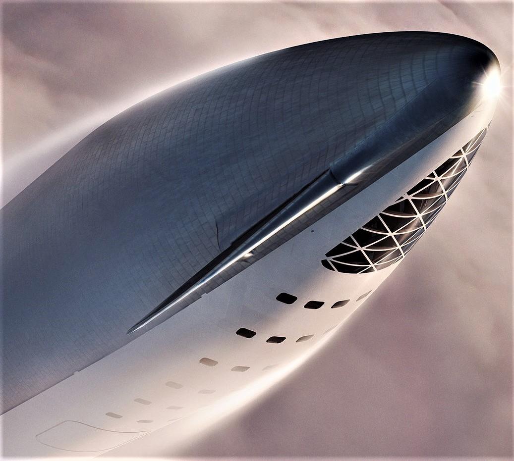 BFR 2018 spaceship nose (SpaceX)