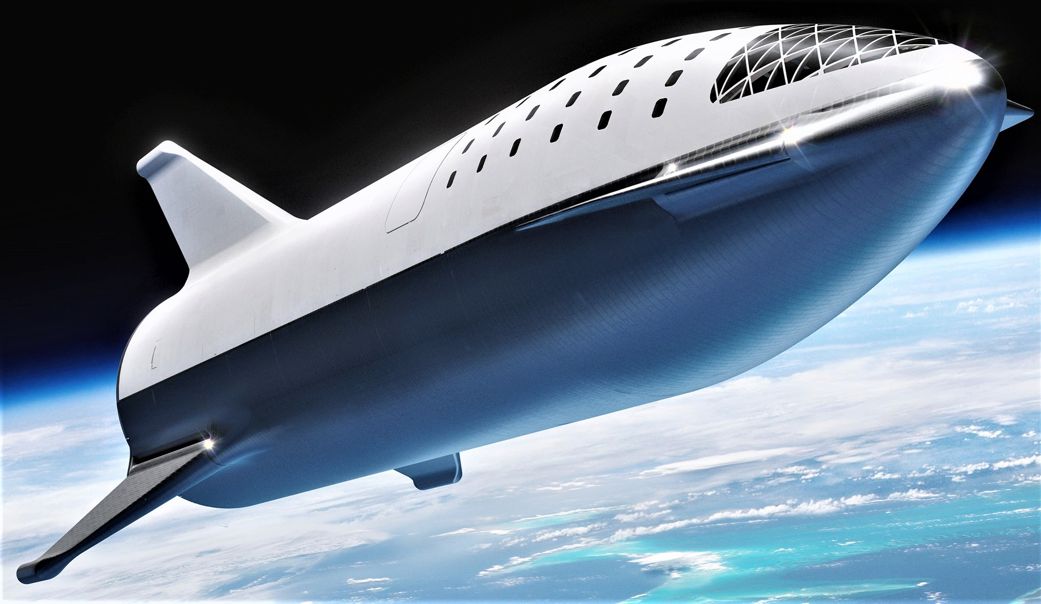 BFR 2018 spaceship overview (SpaceX) 1