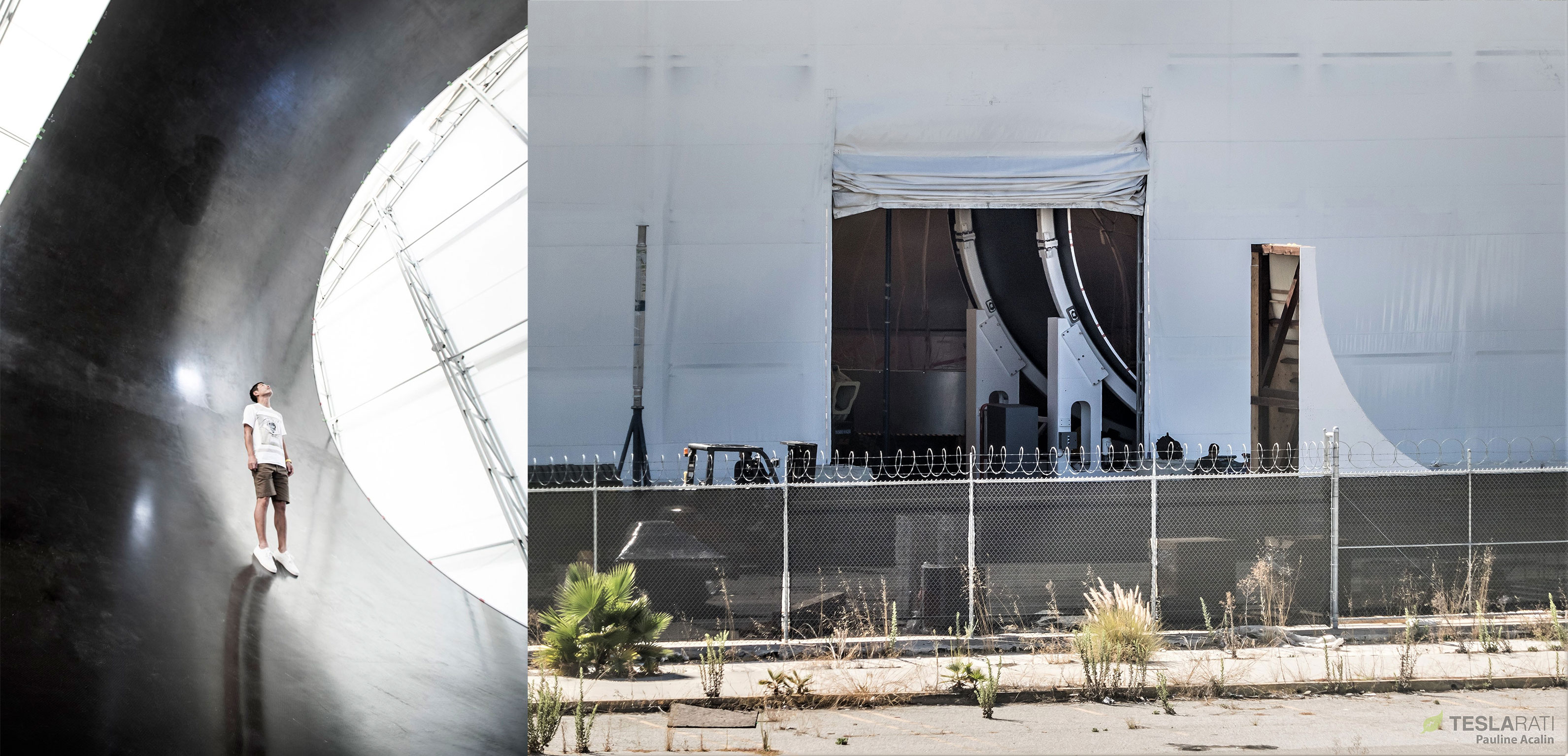 Spacex S First Completed Bfr Spaceship Section Spotted In