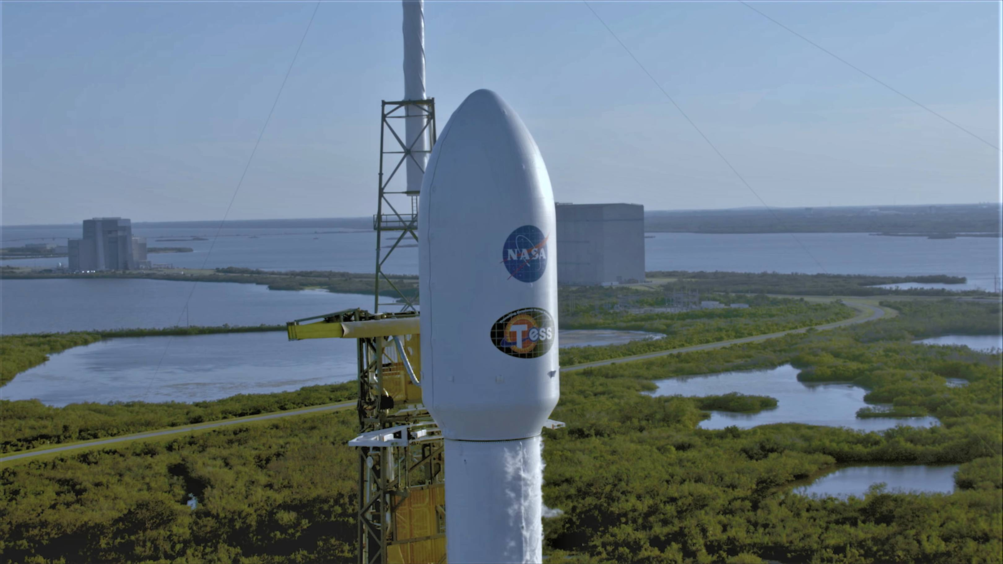 Falcon 9 B1045 TESS prelaunch LC40 (NASA)(c)