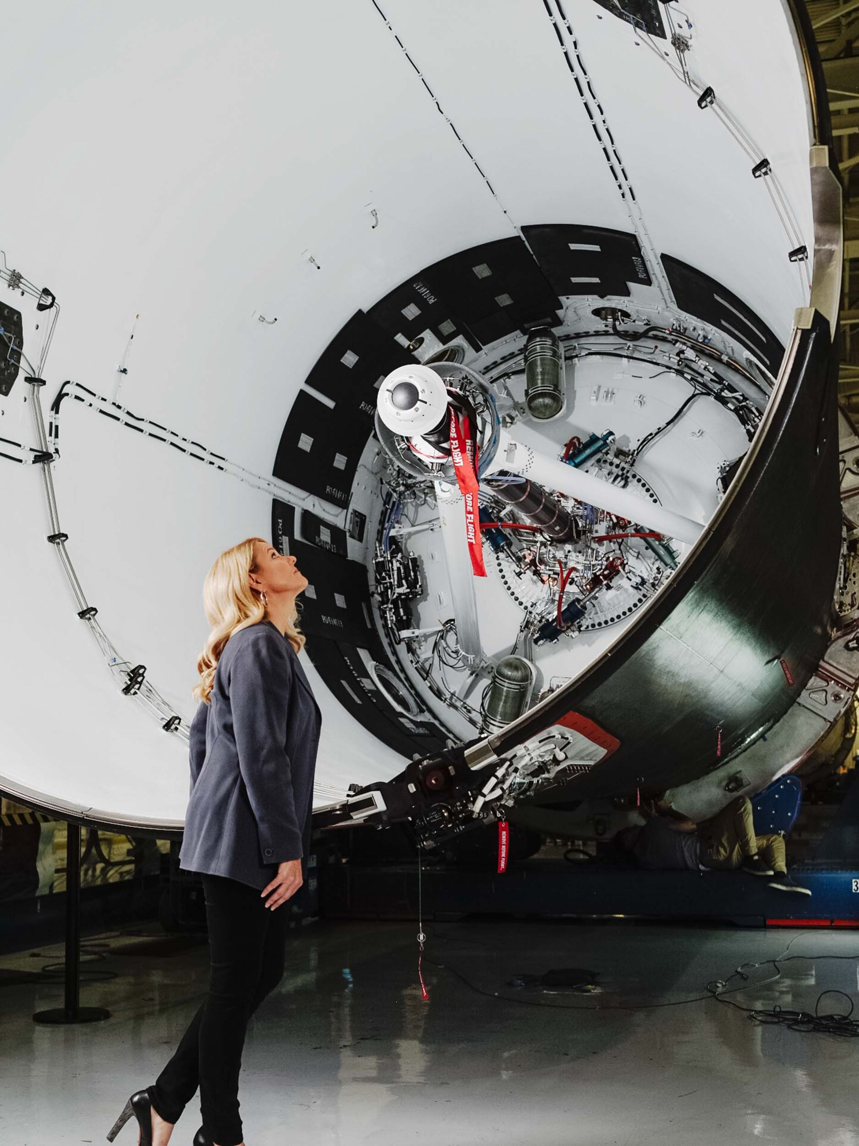 Falcon 9 Block 5 interstage and Shotwell (Bloomberg)