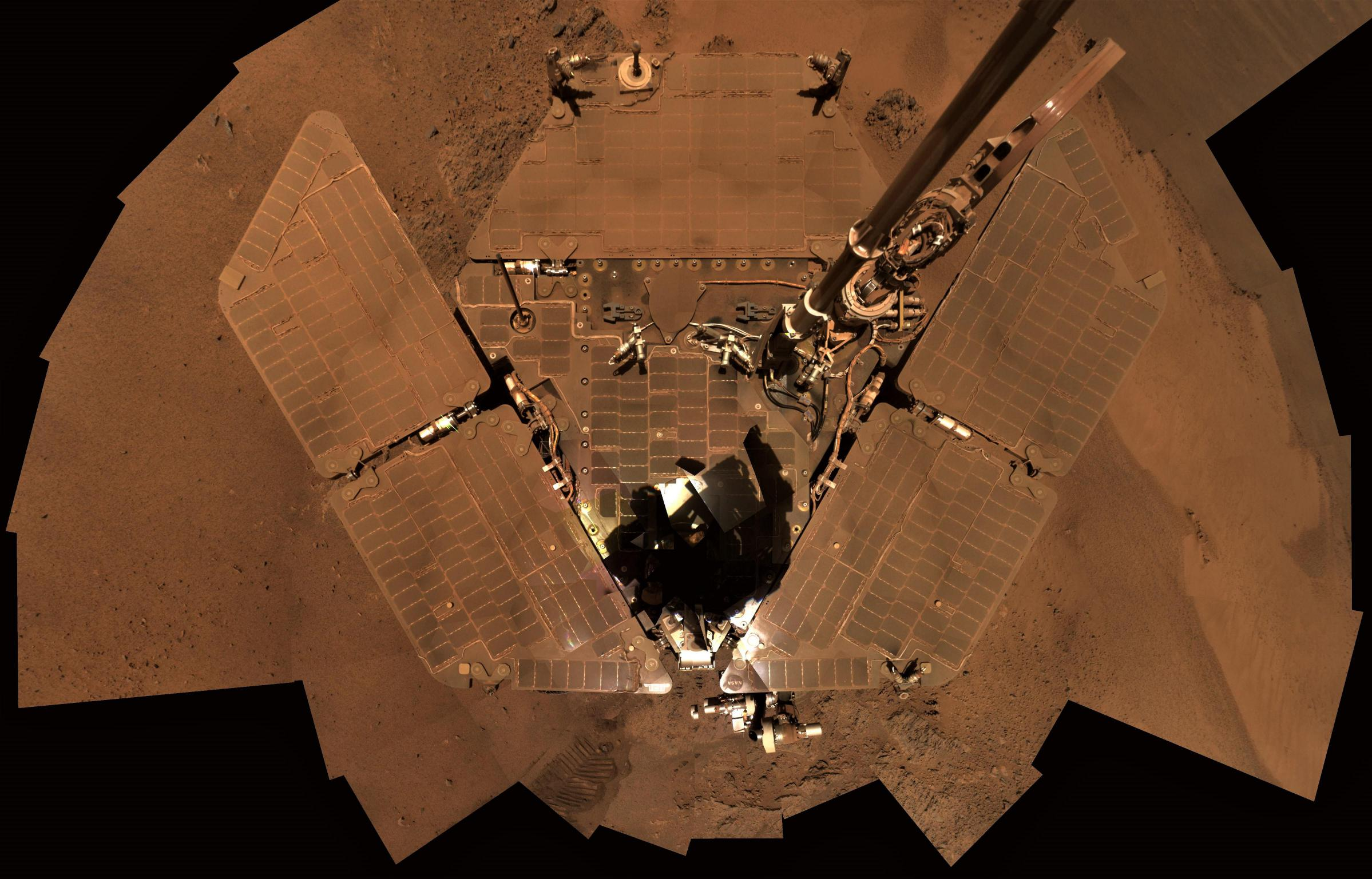 Opportunity dusty solar arrays Dec 2011 (NASA, JPL)(c)