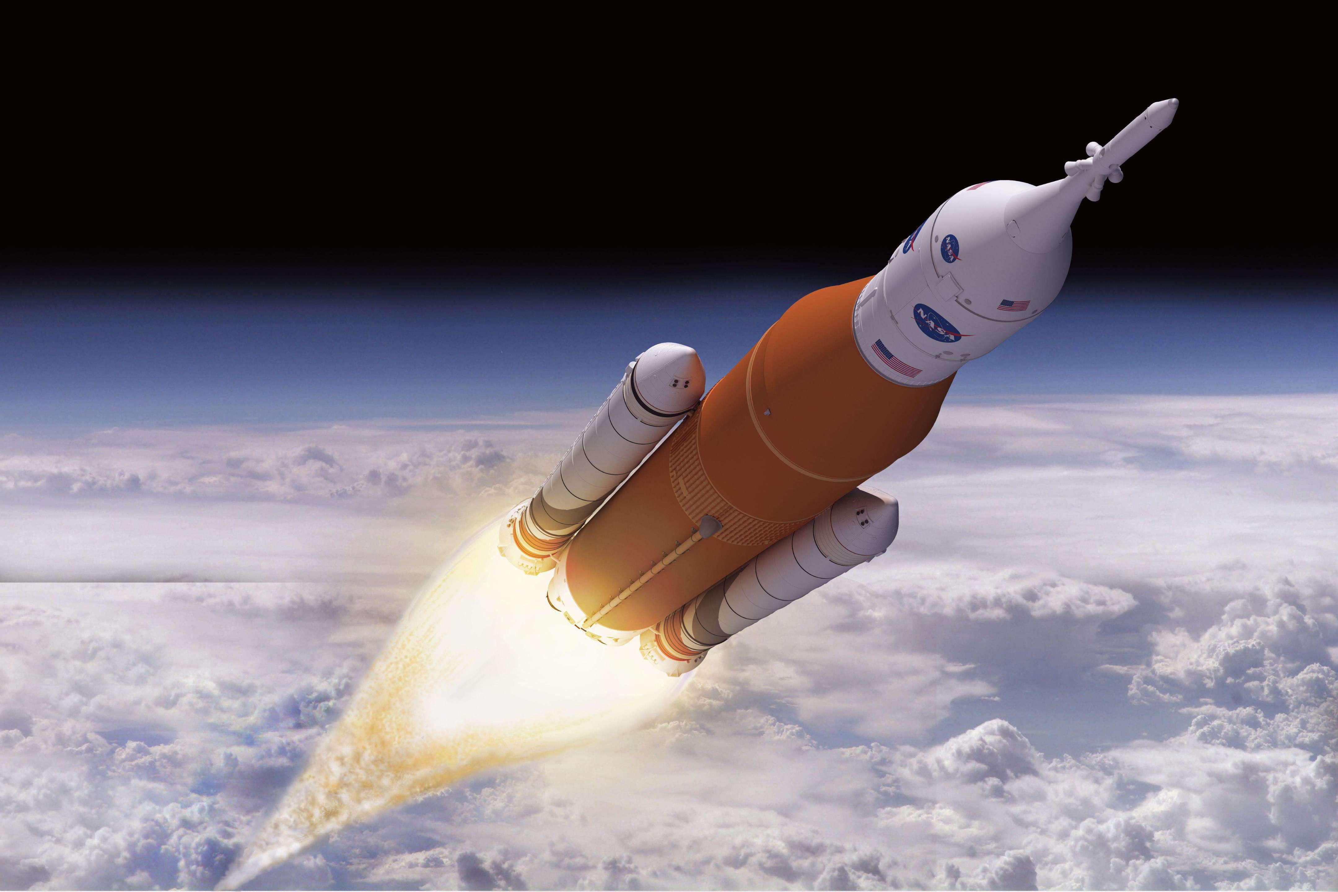SLS Block 1 in flight (NASA)