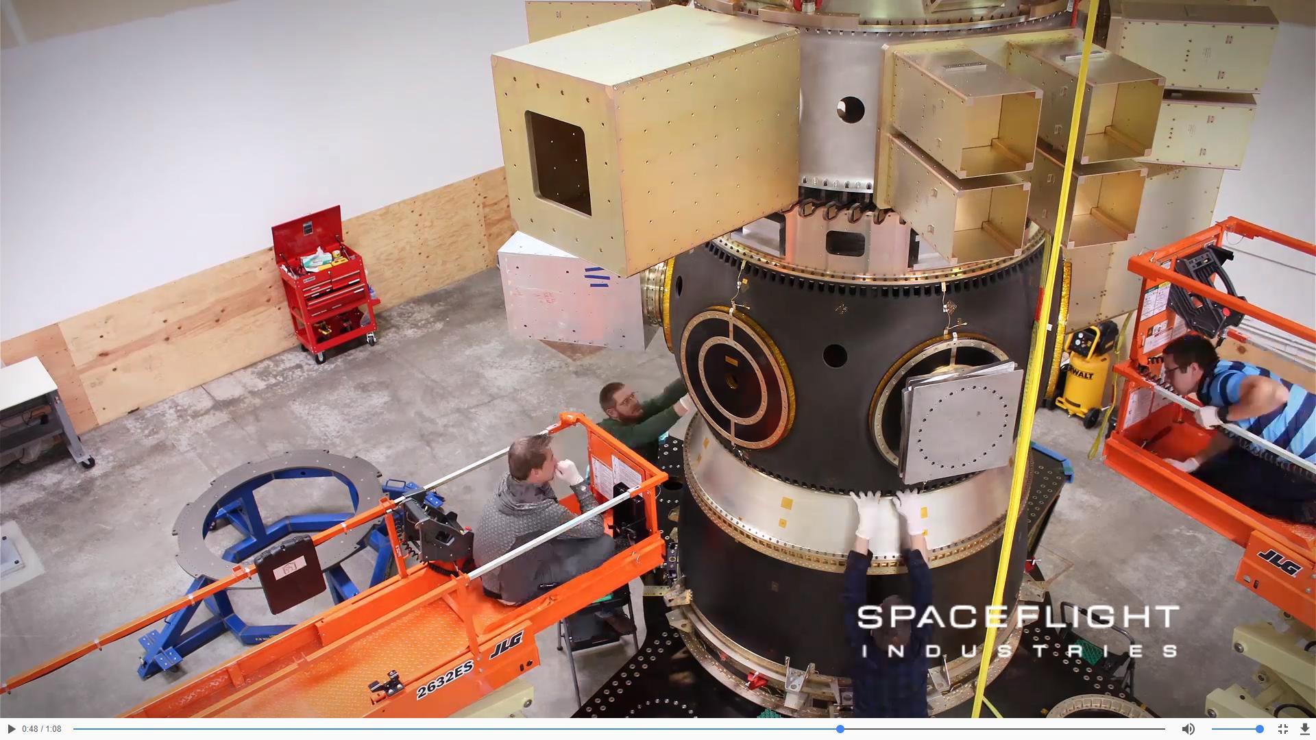 SSO-A preparation 2017 (Spaceflight Industries) 1