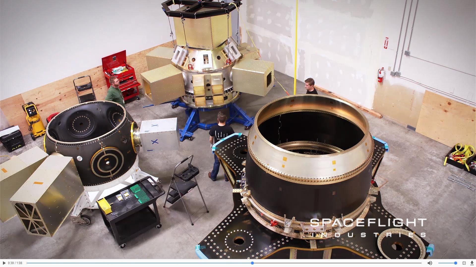 SSO-A preparation 2017 (Spaceflight Industries) 2