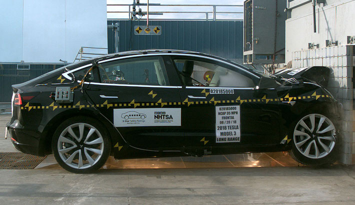 tesla model 3 earns flawless 5 star safety rating from nhtsa. Black Bedroom Furniture Sets. Home Design Ideas
