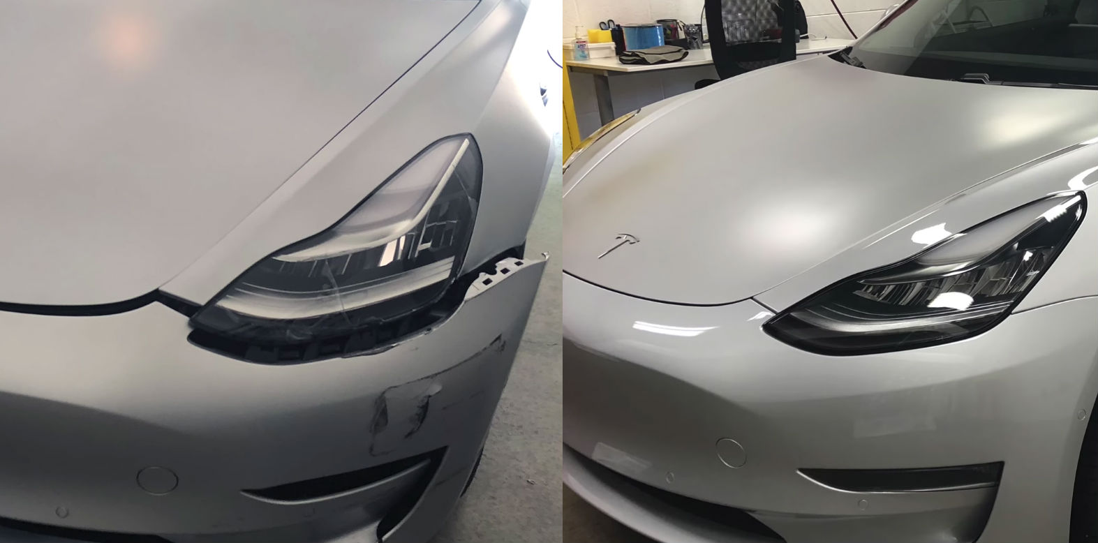 Tesla S In House Body Repair Shop Restores Damaged Model 3