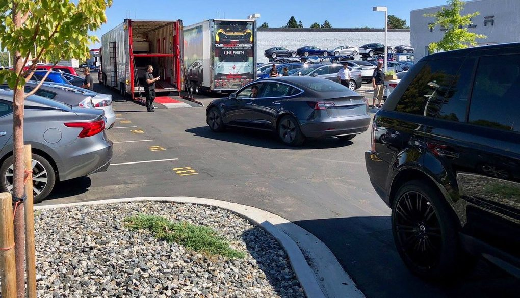 Tesla building vehicle  carrier trailers amid