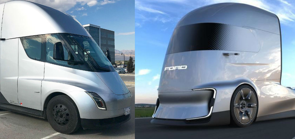 Tesla Semi S Future Rivals Get Teased In Ford S F Vision