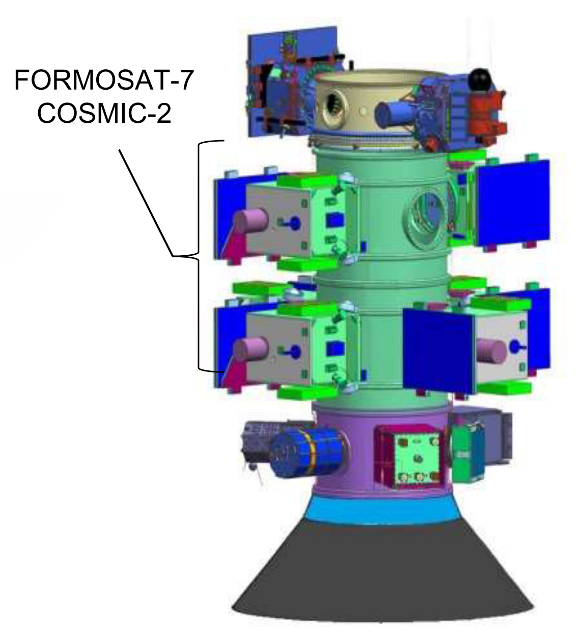 COSMIC-2 Formosat-7 stack