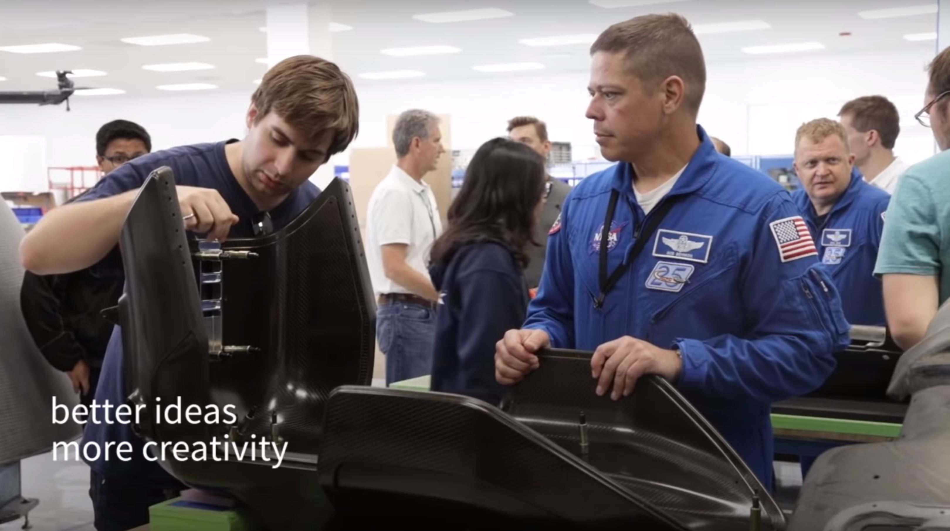 Crew Dragon seat assembly (SpaceX)
