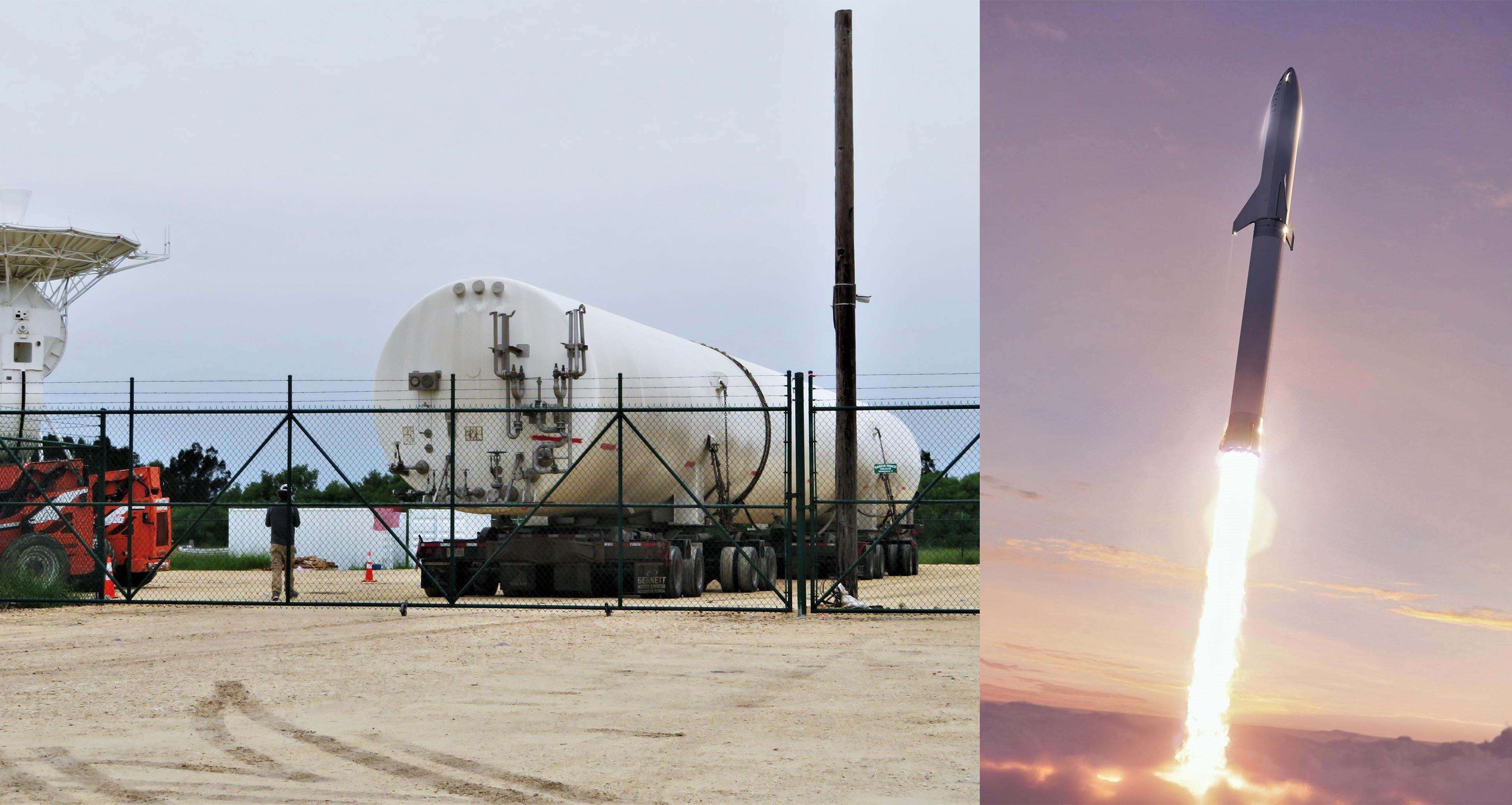 LNG tank arrival 102318 + BFR (bocachicagal) feature