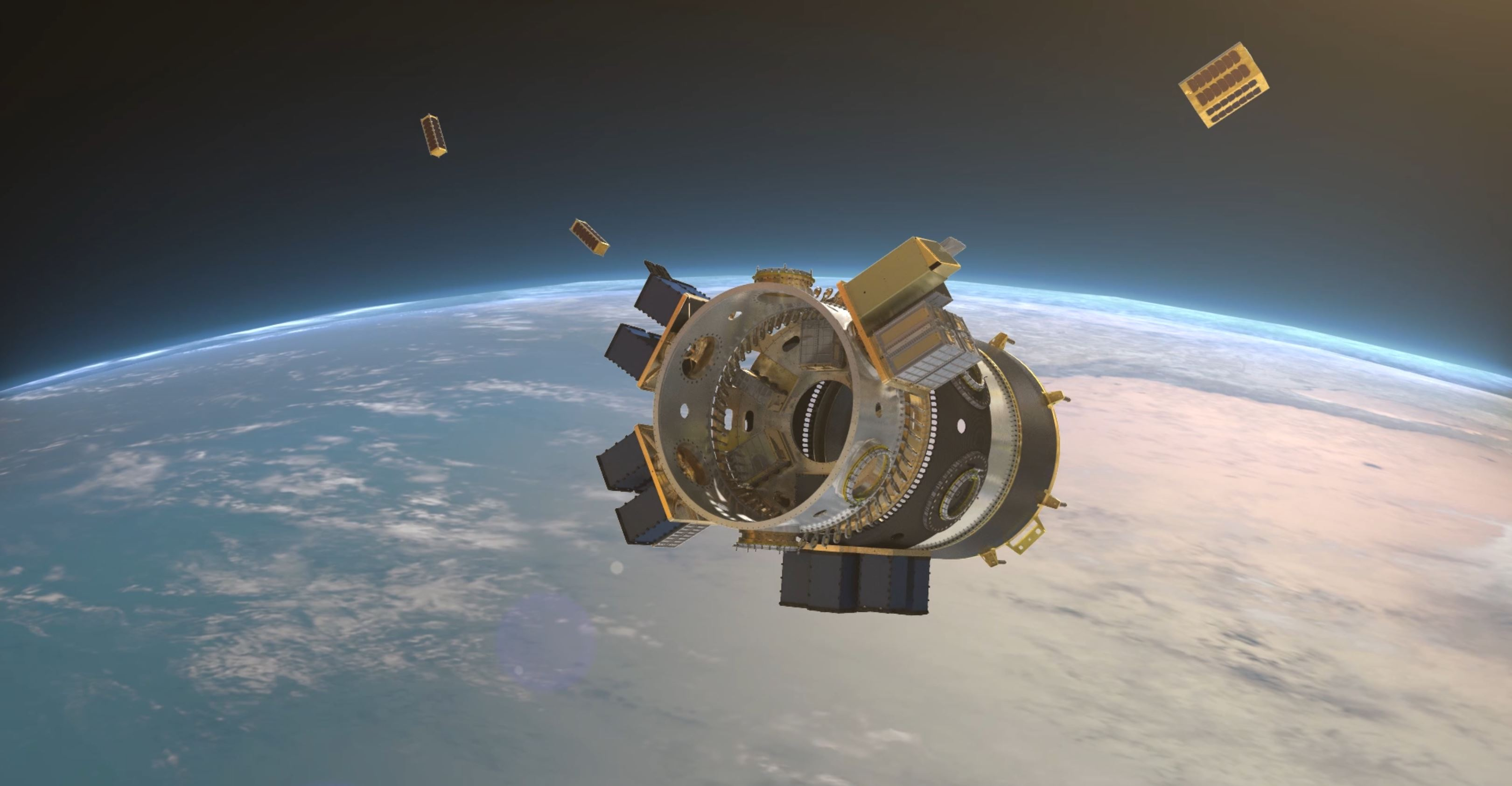 SSO-A Upper Free Flyer cubesat deploy (Spaceflight)