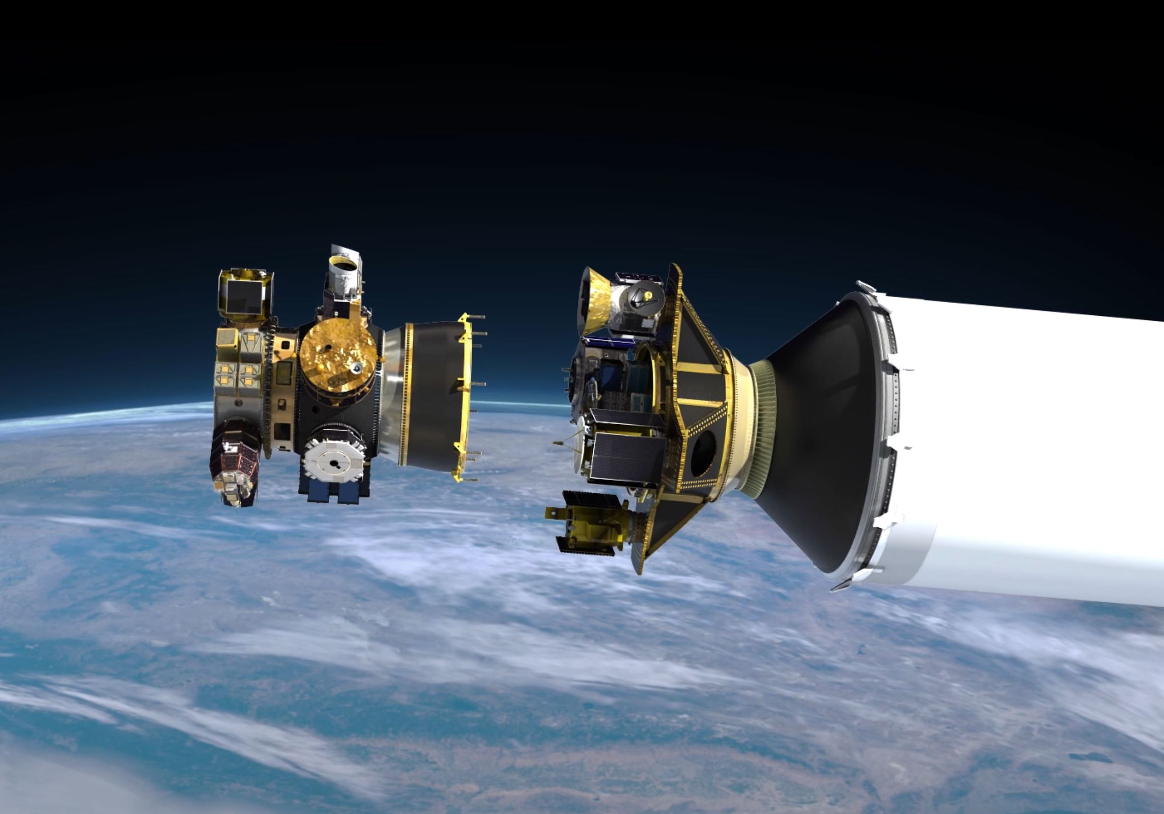SSO-A Upper Free Flyer sep F9 S2 (Spaceflight) 1