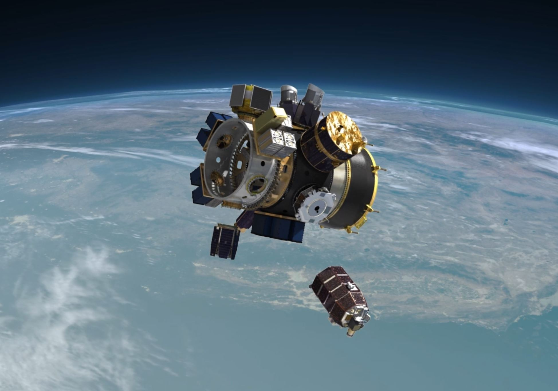 SSO-A Upper Free Flyer sep F9 S2 (Spaceflight) 2