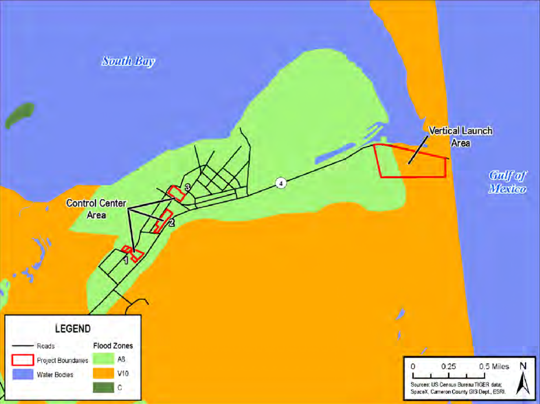 SpaceX Boca Chica map 4